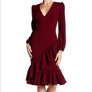 Alexia Admor Scarlett ruffle hem modest dress